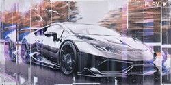 Huracan by Kris Hardy - Original Painting on Box Canvas sized 56x28 inches. Available from Whitewall Galleries